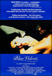 "Blue Velvet (DEG, 1986). One Sheet (26.75"" X 39.75""). Drama"
