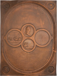 Declaration of Independence: Numismatic-related Copper Plaque
