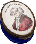 Political:3D & Other Display (pre-1896), George Washington: Battersea Patch Box....