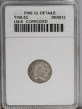 Early Half Dimes: , 1795 H10C --Corroded--ANACS. Fine 12 Details. LM-8, V-5, R-3. A diecrack (as made) through the Y in LIBERTY to Liberty's no...