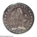 Early Half Dimes: , 1795 H10C VF35 PCGS. V-5, LM-8, R.3. LIB is very widely spaced, andthere are no berries below the eagle's wings. Deep gunm...