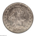 Early Half Dimes: , 1795 H10C XF45 NGC. V-5, LM-8, R-3. Mostly silver-gray in colorwith a few splashes of mint-green and violet toning scatter...