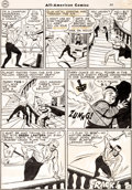 Original Comic Art:Panel Pages, Irwin Hasen and John Belfi All-American Comics #85 StoryPage 12 Green Lantern Original Art (DC, 1947)....
