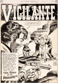 "Original Comic Art:Splash Pages, Dan Barry Action Comics #150 ""Six Slugs for the Vigilante""Splash Story Page 1 Original Art (DC, 1950)...."