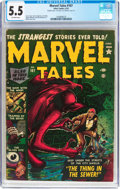 Golden Age (1938-1955):Horror, Marvel Tales #107 (Atlas, 1952) CGC FN- 5.5 Off-white pages....