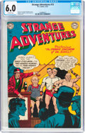 Golden Age (1938-1955):Science Fiction, Strange Adventures #15 (DC, 1951) CGC FN 6.0 Off-white pages....