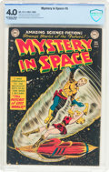 Golden Age (1938-1955):Science Fiction, Mystery in Space #5 (DC, 1952) CBCS VG 4.0 Off-white to whitepages....