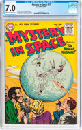 Golden Age (1938-1955):Science Fiction, Mystery in Space #27 (DC, 1955) CGC FN/VF 7.0 Cream to off-whitepages....