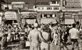 Photographs, Max Yavno (American, 1911-1985). Muscle Beach, 1949. Gelatin silver, printed later. 11-7/8 x 19-3/8 inches (30.1 x 49.3 ...