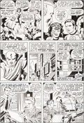 Original Comic Art:Panel Pages, Jack Kirby, Mike Royer, and Bill Wray What If? #11 StoryPage 10 Stan Lee Appearance, Fantastic Four Original Art ...