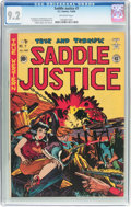 Golden Age (1938-1955):Western, Saddle Justice #7 (EC, 1949) CGC NM- 9.2 Off-white pages....