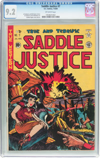 Saddle Justice #7 (EC, 1949) CGC NM- 9.2 Off-white pages