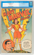 Golden Age (1938-1955):Superhero, Mary Marvel Comics #1 Double Cover (Fawcett Publications, 1945) CGC VF/NM 9.0 Off-white pages....