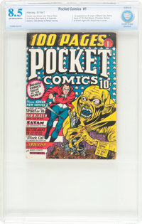 Pocket Comics #1 (Harvey, 1941) CBCS VF+ 8.5 Off-white to white pages