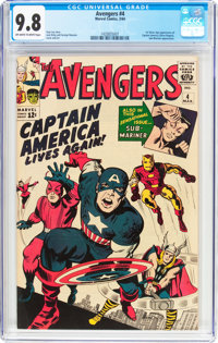 The Avengers #4 (Marvel, 1964) CGC NM/MT 9.8 Off-white to white pages