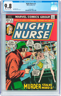 Night Nurse #3 (Marvel, 1973) CGC NM/MT 9.8 Off-white to white pages