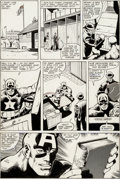 Original Comic Art:Panel Pages, John Byrne and Joe Rubinstein Captain America #247 StoryPage 9 Dum Dum Dugan Original Art (Marvel, 1980)....