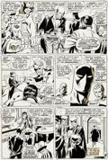 Original Comic Art:Panel Pages, John Buscema and Tom Palmer Avengers #77 Story Page 5Original Art (Marvel, 1970)....