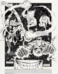 Original Comic Art:Splash Pages, George Perez and Joe Rubinstein Infinity Gauntlet #4 SplashPage 1 Thanos Original Art (Marvel, 1991)....