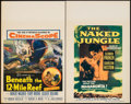 "Movie Posters:Adventure, Beneath the 12-Mile Reef & Other Lot (20th Century Fox, 1953). Window Cards (2) (14"" X 22""). Adventure.. ... (Total: 2 Items)"