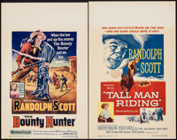 """The Bounty Hunter & Other Lot (Warner Brothers, 1954). Window Cards (2) (14"""" X 22""""). Western. ... (Tot..."""