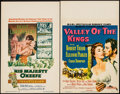 "Movie Posters:Adventure, His Majesty O'Keefe & Other Lot (Warner Brothers, 1954). WindowCards (2) (14"" X 22""). Adventure.. ... (Total: 2 Items)"