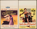 "Movie Posters:Drama, Lucy Gallant & Others Lot (Paramount, 1955). Window Cards (3)(14"" X 22""). Drama.. ... (Total: 3 Items)"