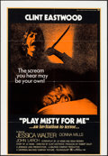 """Movie Posters:Thriller, Play Misty For Me & Other Lot (Universal, 1971). Trimmed OneSheet (27"""" X 39""""), Lobby Card (11"""" X 14""""), & German A1 (23.5""""X... (Total: 3 Items)"""