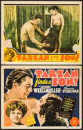 "Movie Posters:Adventure, Tarzan Finds a Son (MGM, 1939). Title Lobby Card & Lobby Card(11"" X 14""). Adventure.. ... (Total: 2 Items)"