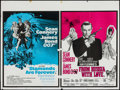 "Movie Posters:James Bond, Diamonds are Forever/From Russia With Love Combo (Eon Productions, R-1971). British Quad (30"" X 40"").. ..."
