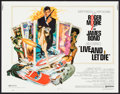 "Movie Posters:James Bond, Live and Let Die (United Artists, 1973). Half Sheet (22"" X 28"").James Bond.. ..."