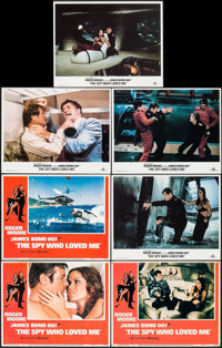 """The Spy Who Loved Me (United Artists, 1977/R-1984). Lobby Cards (7) (11"""" X 14""""). James Bond. ... (Total: 7 Ite..."""