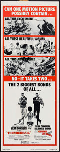 "Movie Posters:James Bond, Thunderball/You Only Live Twice Combo (United Artists, R-1971).Insert (14"" X 36""). James Bond.. ..."