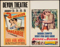 "Movie Posters:Adventure, Sangaree & Other Lot (Paramount, 1953). Window Cards (2) (14"" X22"") 3-D Style. Adventure.. ... (Total: 2 Items)"