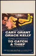 "Movie Posters:Hitchcock, To Catch a Thief (Paramount, 1955). Window Card (14"" X 22"").Hitchcock.. ..."
