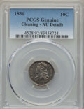 Bust Dimes: , 1836 10C -- Cleaning -- PCGS Genuine. AU Details. NGC Census:(4/175). PCGS Population: (25/196). CDN: $360 Whsle. Bid for ...