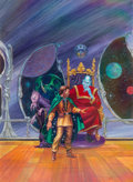 Paintings, Kelly Freas (American, 1922-2005). Starjammer II: Into the Void, paperback cover, 1991. Oil on board. 22 x 16 in. (image...