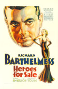 "Movie Posters:Drama, Heroes for Sale (Warner Brothers, 1933). One Sheet (27"" X 41"")....."