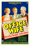 "Movie Posters:Romance, The Office Wife (Warner Brothers, 1930). One Sheet (27"" X 41"")....."
