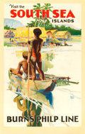 "Movie Posters:Miscellaneous, Visit the South Sea Islands (Burns Philp Line, 1930s). AustralianTravel Poster (25.5"" X 40"") Walter Jardine Artwork.. ..."
