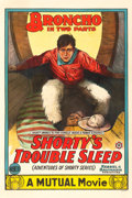 "Movie Posters:Western, Shorty's Troubled Sleep (Mutual, 1915). One Sheet (28"" X 42"").. ..."