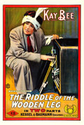 "Movie Posters:Drama, The Riddle of the Wooden Leg (Kay-Bee, 1915). One Sheet (28"" X42"").. ..."