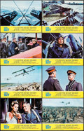 """Movie Posters:War, The Blue Max (20th Century Fox, 1966). Lobby Card Set of 8 (11"""" X14""""). War.. ... (Total: 8 Items)"""