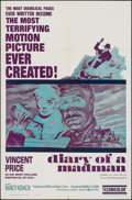 "Movie Posters:Horror, Diary of a Madman (United Artists, 1963). One Sheet (27"" X 41""). Horror.. ..."