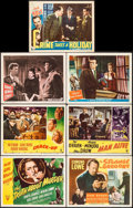 """Movie Posters:Mystery, The Truth About Murder & Others Lot (RKO, 1946). Title LobbyCards (2) & Lobby Cards (5) (11"""" X 14""""). Mystery.. ... (Total:7 Items)"""