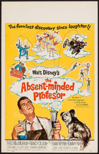 "The Absent-Minded Professor (Buena Vista, 1961). Window Card (14"" X 22""). Comedy"