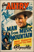 "Movie Posters:Western, Man from Music Mountain (Republic, 1938). One Sheet (27"" X 41"").Western.. ..."