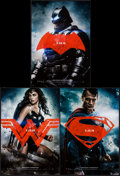 "Movie Posters:Action, Batman V Superman: Dawn of Justice (Warner Brothers, 2016). Mini Poster Set of 3 (11.5"" X 17""). Action.. ... (Total: 3 Items)"