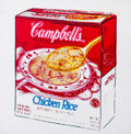 Miscellaneous, Andy Warhol (1928-1987). Campbell's Soup Box (Chicken Rice),1986. Synthetic polymer paint and silkscreen inks on canvas...