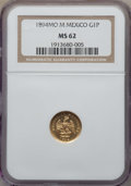 Mexico, Mexico: Republic gold Peso 1894 Mo-M MS62 NGC,...